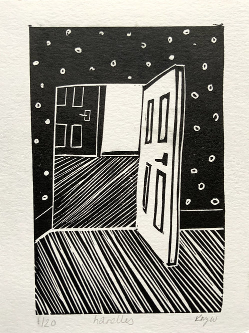 'Door' Limited Edition Linocut on Paper