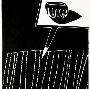 Linocut on paper, 2019