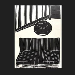 Linocut on paper 2019
