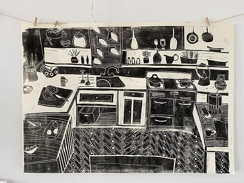 Artist Proof Large Linocut
