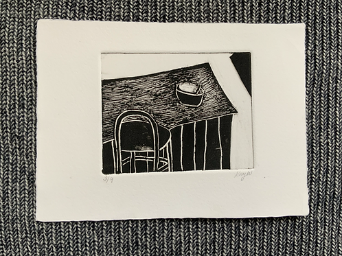 'Breakfast Bar' Mono print on paper