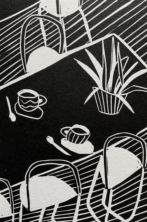 'Big Teaspoons' Limited Edition Linocut on Paper