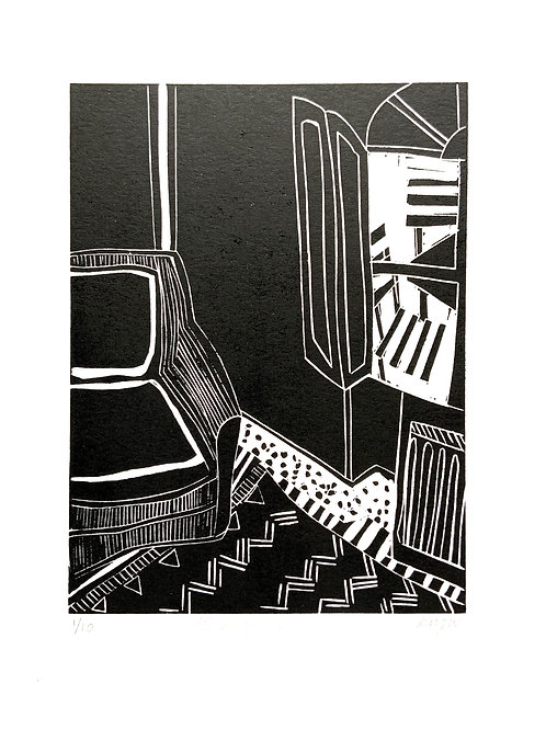 '15 Degrees' Limited Edition Linocut on paper