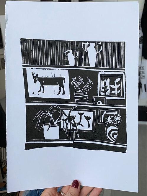 A4 Linocut on paper