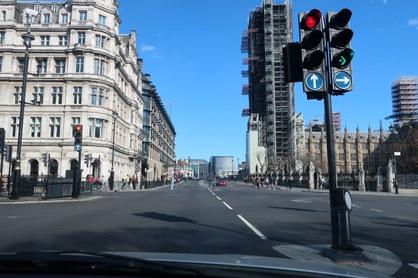 Parliament Square towards Westminster Bridge