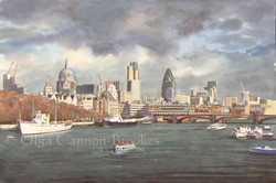 The view of the City of London