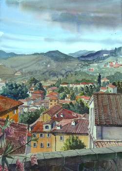 Roofs of Barga, Italy