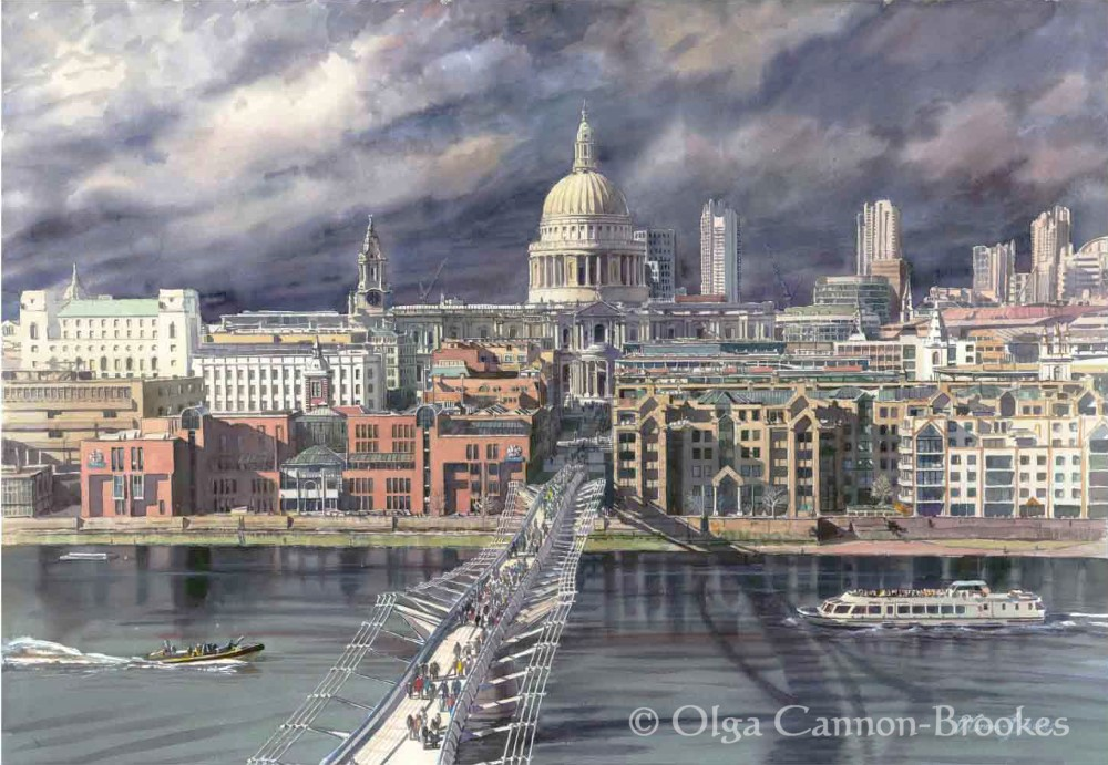 St Paul's before the Storm