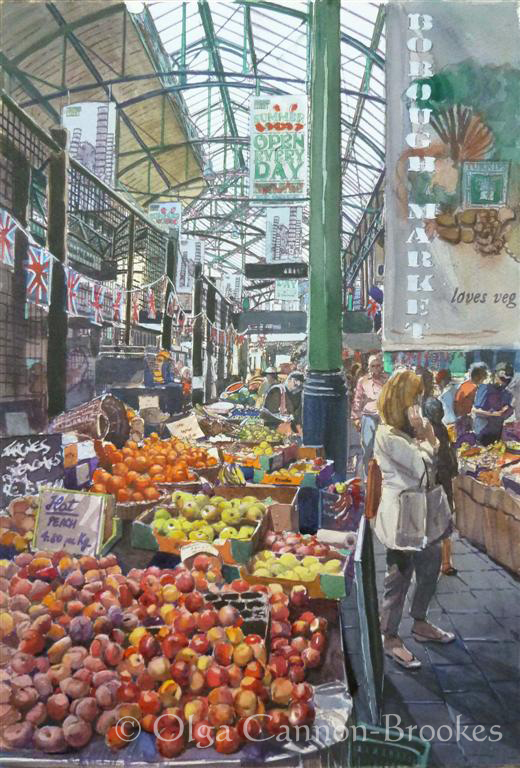 Borough Market. The fruit stalls.