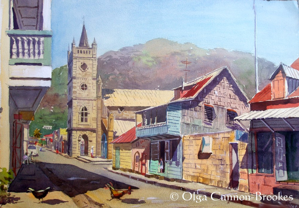 Soufriere High St, St Lucia