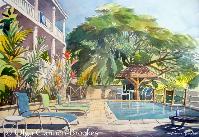 Villa Serendipity pool, St Lucia