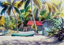St Lucia beach hut
