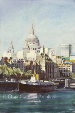 St. Paul's Cathedral from the Thames