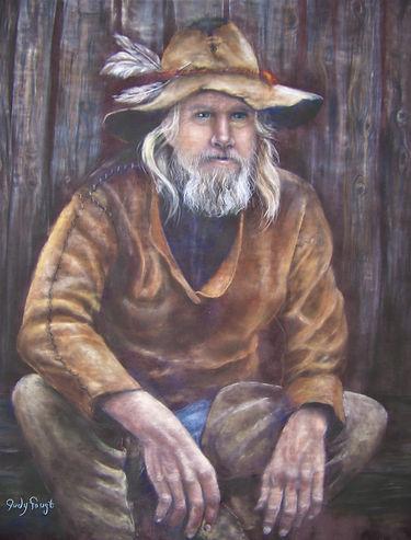 Mountain Man 4 20x16 pastel on suede mat