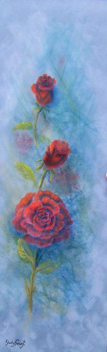 LOVE 20 x 6 pastel on suede matte origin