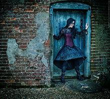 Fashion shot of Goth style dress