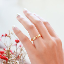 Sterling Silver Ring. In Rose Gold Plate