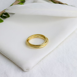 Sterling Silver Ring. In Yellow Gold Plate