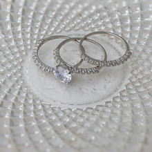 Sterling Silver Stack CZ Ring