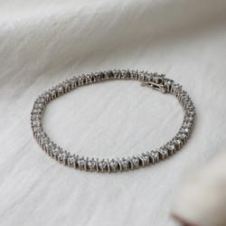 """Sterling Silver CZ Bracelet. Length 7.25"""""""