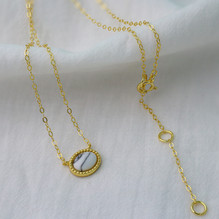 """Sterling Silver Howlite Necklace. Length 16"""""""