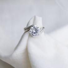 Sterling Silver CZ Ring - Silver Ice Ltd