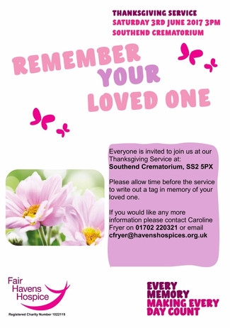 Remember your loved one - 3rd June