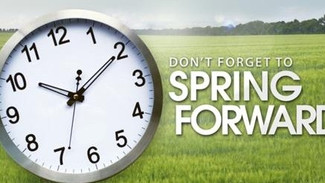 Don't forget - clocks go forward this weekend!