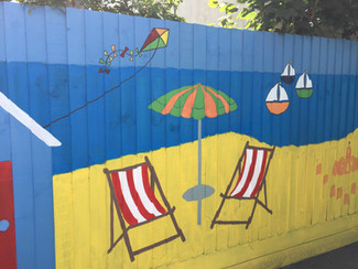 Fence Painting at Hamstel Children's Centre