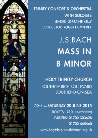 Concert at Holy Trinity - 20th June 7:30pm