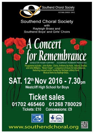 A Concert for Remembrance - 12th Nov