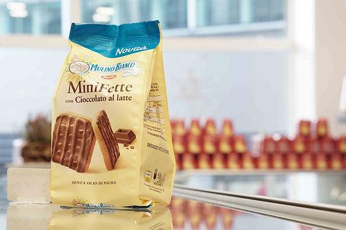 Mini Fette con cioccolato al latte (110 g) - Mulino Bianco