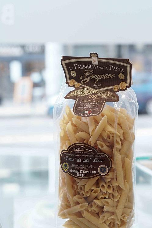 """'e Penne """"de zite"""" Lisce (500 g) - La Fabbrica della Pasta di Gragnano"""
