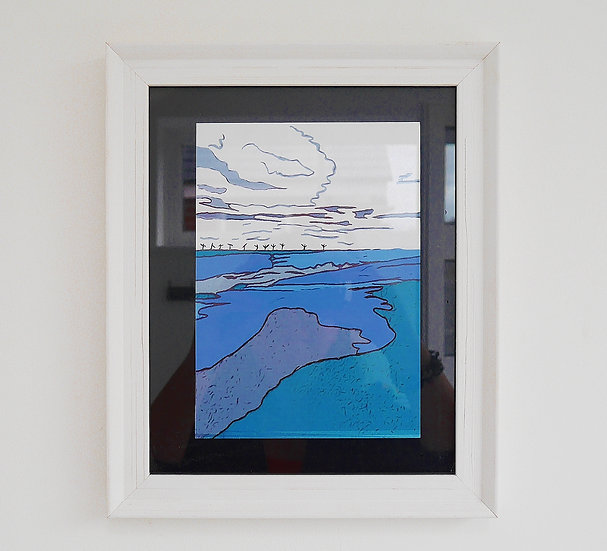 Caister Beach - Colour Print