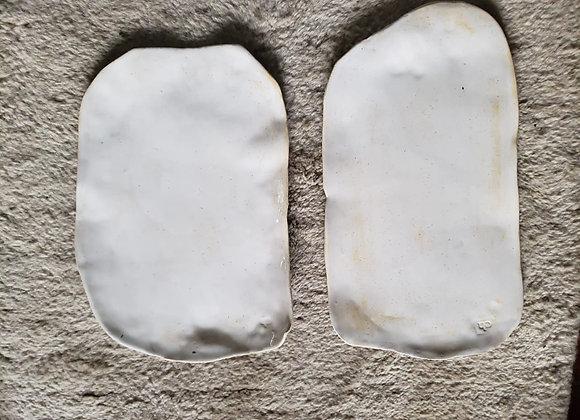 Bandejas Gres Blancas Ovaladas