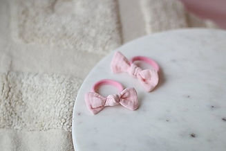 Hairbands peachy pink