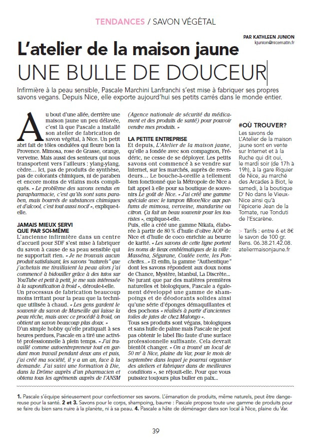 Encore un bel article
