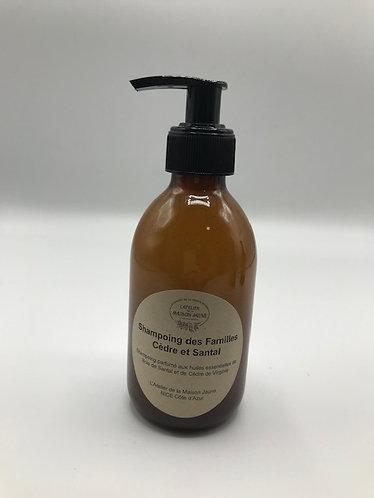 Shampoing gel parfumé huiles essentielles de Cèdre et de Santal250ml