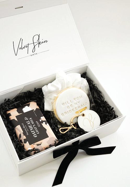 Petite Be My Bridesmaid Proposal Box - White
