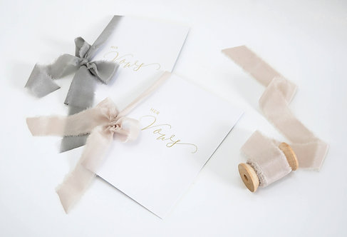 Silk Ribbon Vow Cards