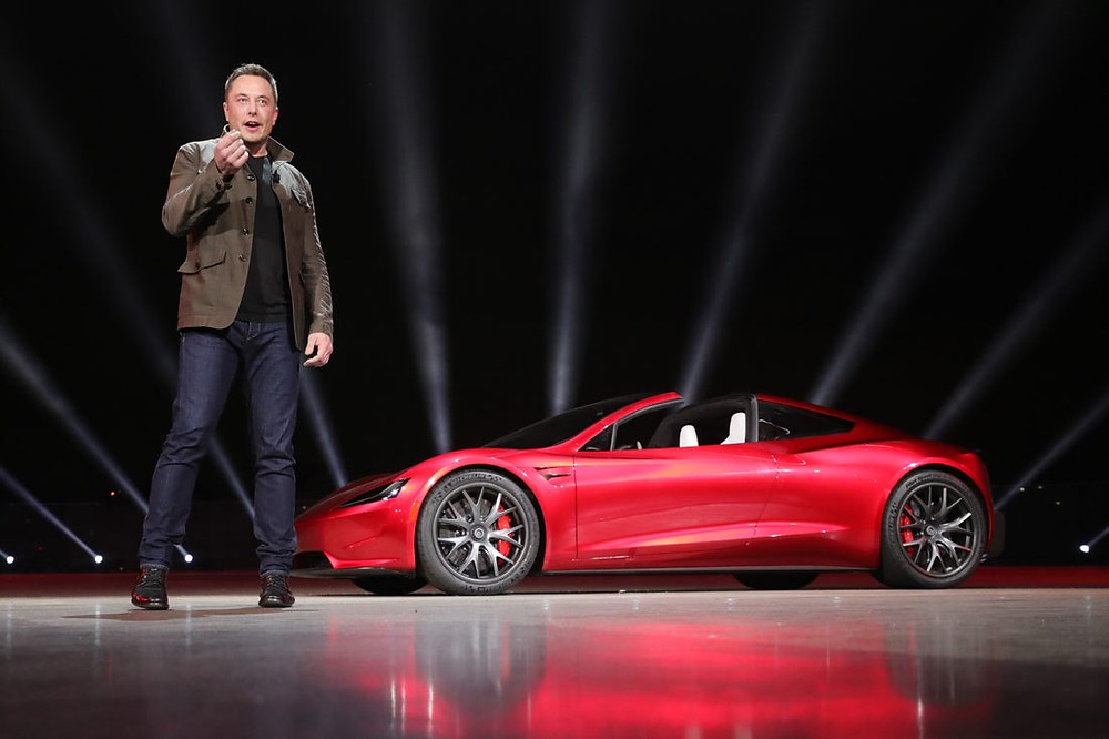 Elon Musk unveils the Tesla Roadster in 2008