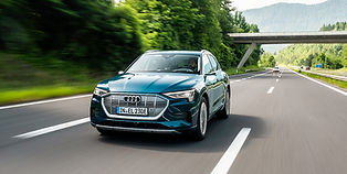 The Audi e-tron is a stylish and forward thinking SUV, full of innovative tech including virtual wingmirrors and two-zone electronic climate control. The e-tron reaches 60mph in an impressive 5.7 seconds, and achieves a maximum 250 mile range on a single charge.
