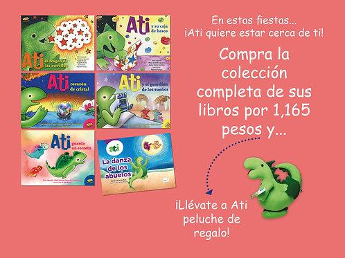 Colección completa de libros de Ati te regala un Ati peluche
