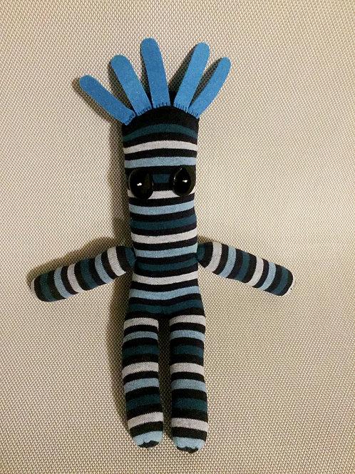 Rayas, el amigo de Ati, azul