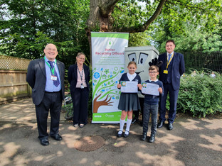 Success for Cheshire East's junior recycling officers