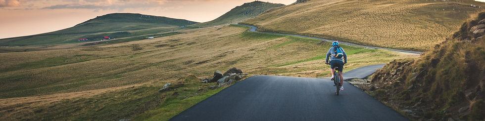 Landschaft mit Fahrrad