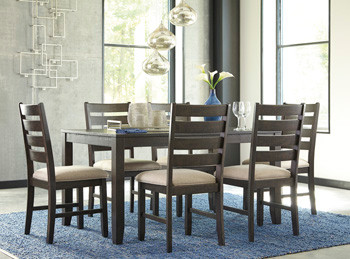 $529 Rokane 7 Piece Dining Set Ashley Fu