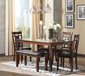 $419 Bennox 6 Piece Dining Set Ashley Fu