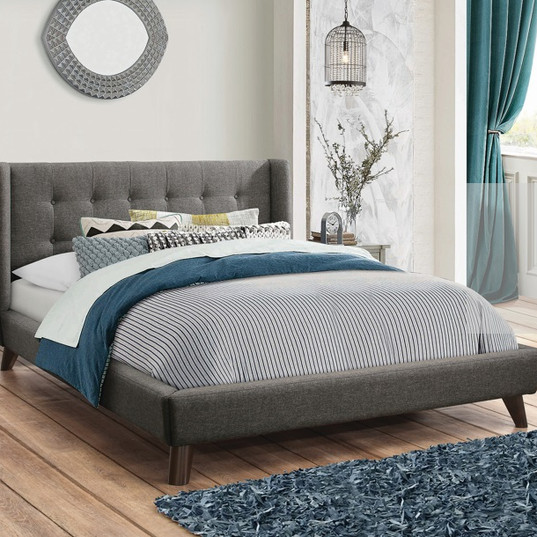 $399 Carrington Button Tufted Bed Queen.