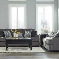 Gilmer Gunmetal Sofa Set Ashley Furnitur